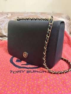 Tory Burch blue Robinson Crossbody bag 💯Authentic