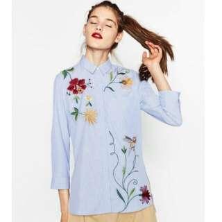 Zara embroidered polo shirts