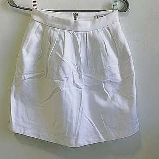 Stradivarius White Mini Skirt