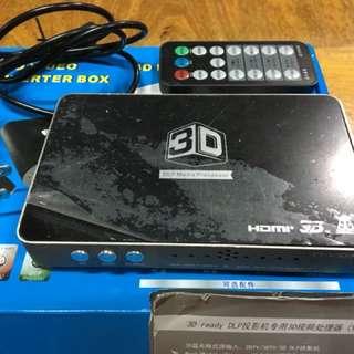 3D DLP hd video converter box