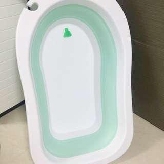 全新 韓國 摺疊浴盆