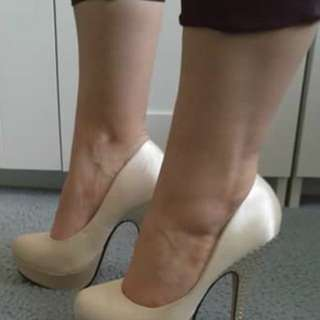Champagne colour heels