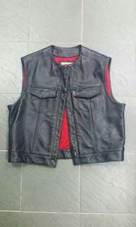 Vintage HA leather vest