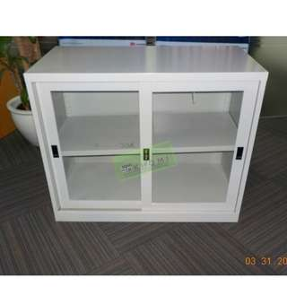 4pcs 2 LAYER GLASS SLIDING DOOR CABINET--KHOMI