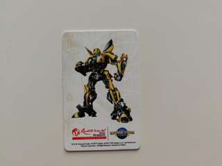Transformers Bumblebee Ezlink Card