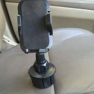 Phone holder for car cup holder