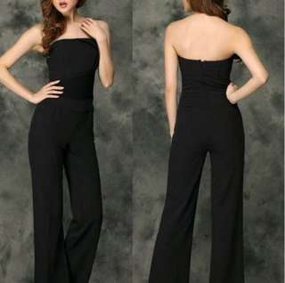 Brand New Bebe Cut Label Tube Bustier Jumpsuit