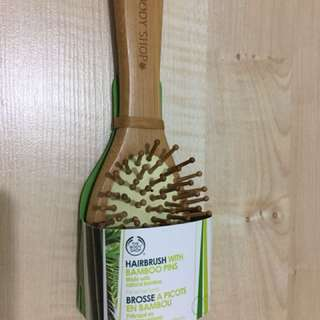 Hairbrush with bamboo pins