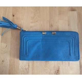 Danier Leather Blue Clutch - Brand New