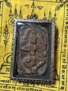 Khmer Lucky goddess . Apsaras deities with Salika lovers bird.