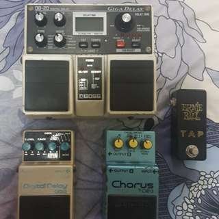 Boss pedals Delay Dd20 dd3 and Ce3 MIJ