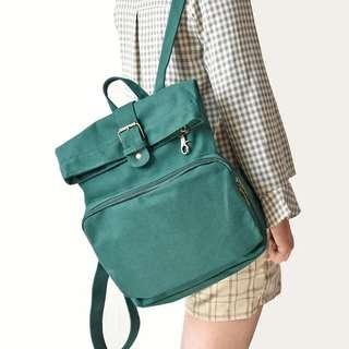 <P.O> Korean Harajuku Anti-Theft Canvas Backpack Bag