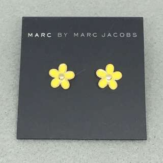 Marc Jacobs Sample Earrings 黃色配金色花花耳環
