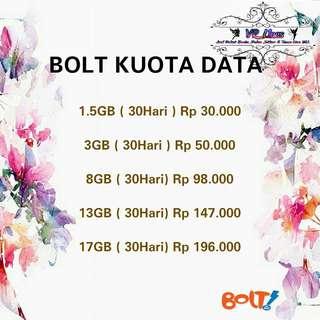Bolt Kuota Data