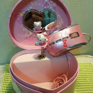 【安全地帶】Hello Kitty凱蒂貓 音樂盒+滑鼠2合併只賣140元
