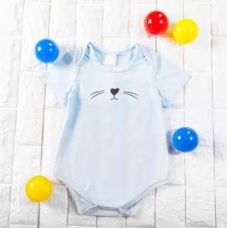 🐰Instock - blue whiskers romper, baby infant toddler girl boy children glad cute 123456789 lalalala