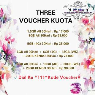 Three Voucher Kuota