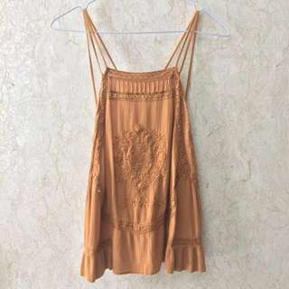 s/m/l Sand embroidered camisole