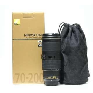 Nikon AF-S 70-200mm F4 G ED VR Lens