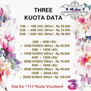 Three Kuota Data