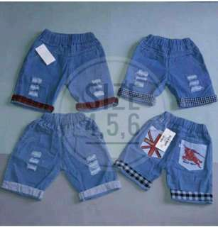 Celana pendek ripped jeans anak