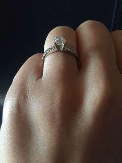 Genuine 0.4 carat Diamond engagement ring