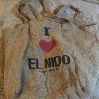 El nido beach bag