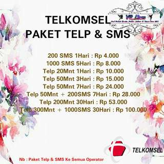 Paket Telp & Sms Telkomsel