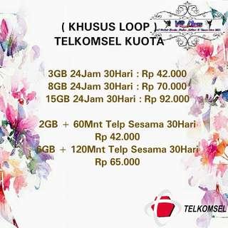 Telkomsel Kuota ( Khusus Loop )