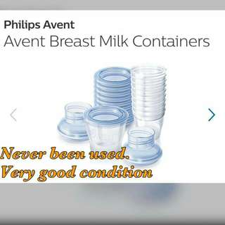 Avent Brest Milk Containers