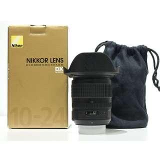 Nikon AF-S 10-24mm F3.5-5.6 G ED VR Wide-angle Lens