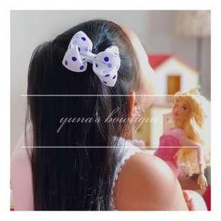 3-inch Hairbow / Hairclip (polka dots)