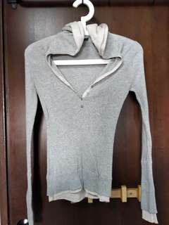 Heather grey pullover