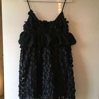 黑色吊帶娃娃裝連身裙
