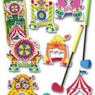 Mini Golf Set (Circus Theme)