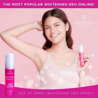 Fairness and Flawless Sgt. At Arms Whitening Deo Spray