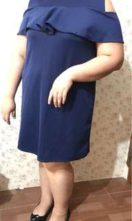 Dress Big Size - Navy Blue