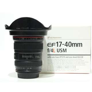 Canon EF 17-40m F4L USM Lens