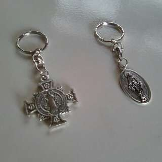 Keychains w/ religious tokens