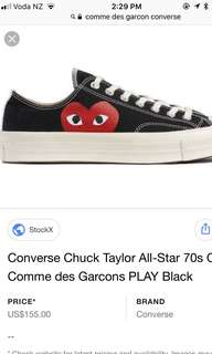 CDG converse AUTHENTIC