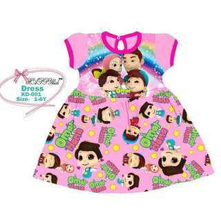 KIDS DRESS HANA OMAR PINK
