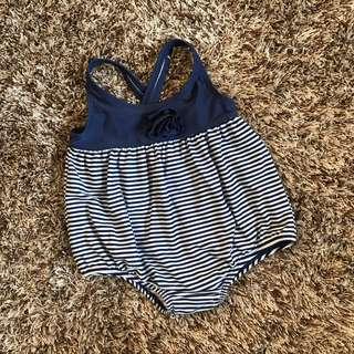 N.Blue Stripe Swimsuit