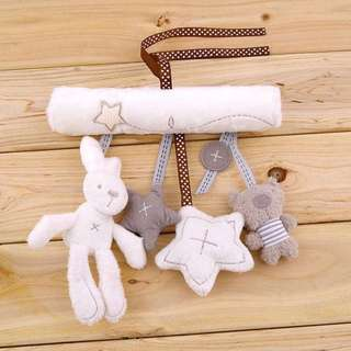 Soft Toy animal handbells rattle