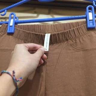 🚚 [二手]pazzo卡其內刷毛貼腿褲