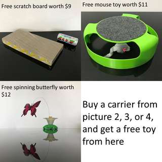 free toy with pet carrier cat dog kitten puppy purchase