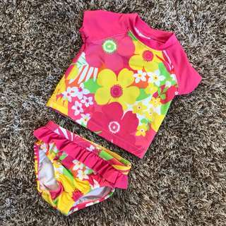 Pink Floral Swimwear Set