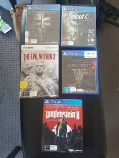 PS4 GAMES UNUSED