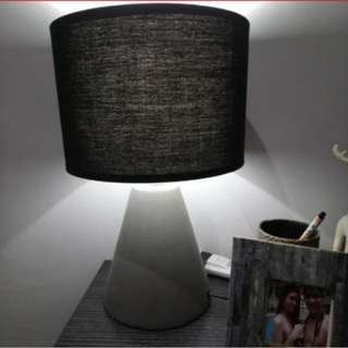 Lampshade with bulb