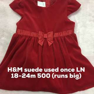 H&M Suede red dress 1-2T
