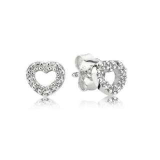 Pandora Be my Valentine Heart Stud Earrings